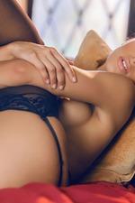 Uma Jolia Posing In Sexy Lingerie-13