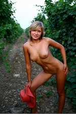 Naked sexy Alisina posing outdoors-09