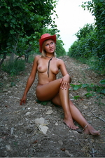 Naked sexy Alisina posing outdoors-13