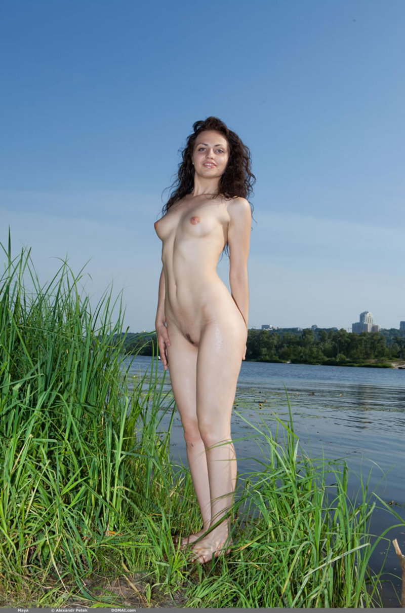 Teen nudity in the warm lake-10