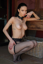 Dita Wearing Sexy Fishnet-15