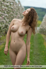 Busty Vika Posing Outdoor-09