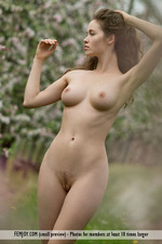 Busty Vika Posing Outdoor-10