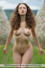 Busty Vika Posing Outdoor-12