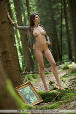 Busty Jasmine Posing Nude In The Forest-00