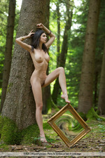 Busty Jasmine Posing Nude In The Forest-06