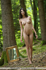 Busty Jasmine Posing Nude In The Forest-08