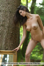 Busty Jasmine Posing Nude In The Forest-09