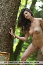 Busty Jasmine Posing Nude In The Forest-10