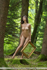 Busty Jasmine Posing Nude In The Forest-12