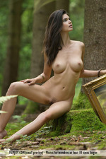 Busty Jasmine Posing Nude In The Forest-13