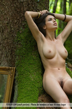 Busty Jasmine Posing Nude In The Forest-15