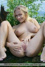 Busty Vika Having Fun Outdoors-12