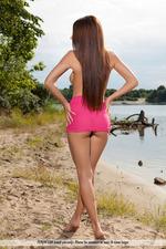Busty Niemira Posing At The Lake-01