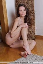 Naked Brunette Girl Myla-09