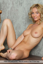 Busty Blonde Annabell Gets Nude-12