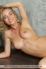 Busty Blonde Annabell Gets Nude-15