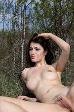 Outdoor Nudity With A Sexy Brunette-14