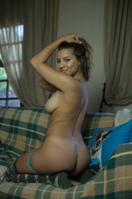 Busty Lacey Gets Naked-10