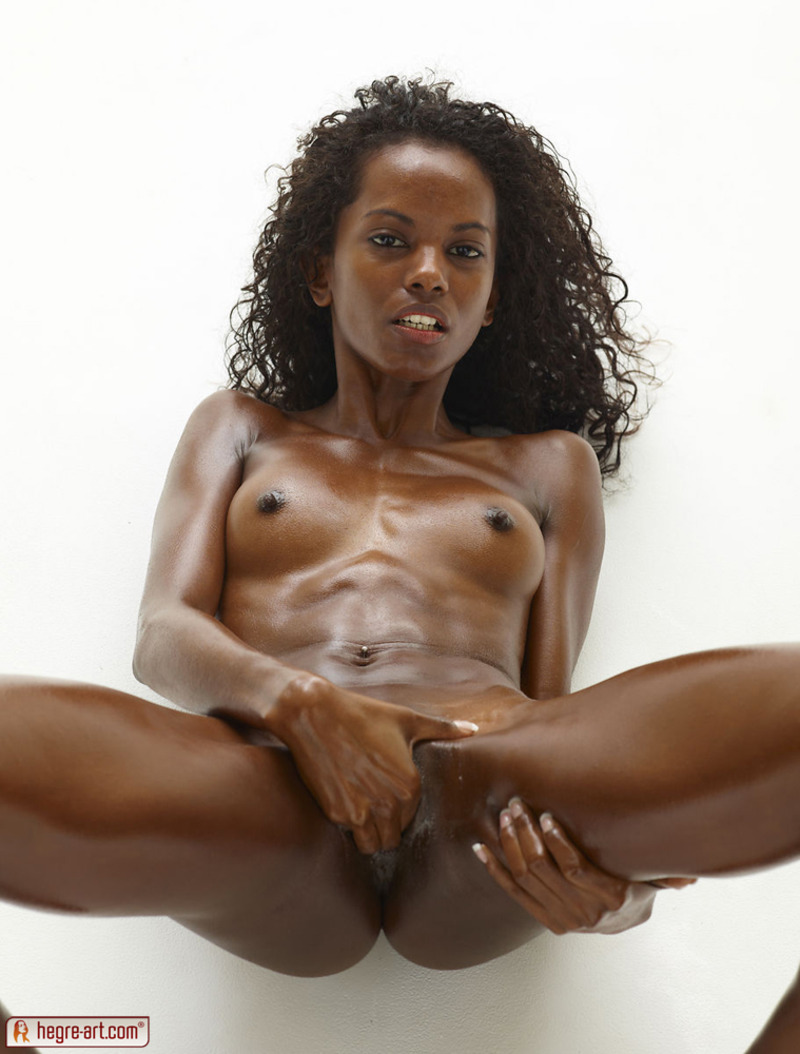 naked ebony babe playing her wet pussy - free galleryhegre-art