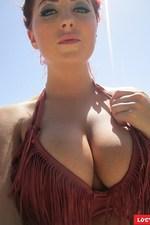 Busty Lucy Anne drops her sexy bikini-01