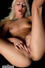 Naked Victoria playing with her pussy-12