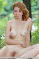 Busty Kika Stripping Outdoor-17