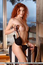 Naked Curly Redhead Adel-09