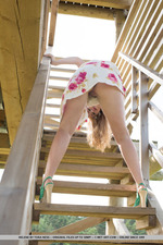 Cuute Blonde Helene Gets Naked Outdoors-04