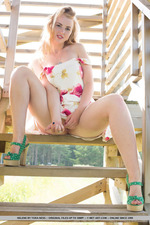 Cuute Blonde Helene Gets Naked Outdoors-07