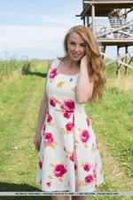 Cuute Blonde Helene Gets Naked Outdoors-11