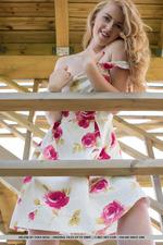 Cuute Blonde Helene Gets Naked Outdoors-16