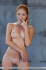 Lovely Redhead Michelle Having Fun By The Pool-04