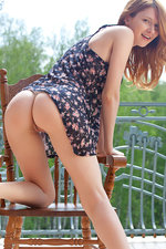 Teen redhead undressing for us-12
