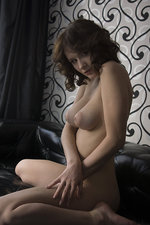 Busty brunette strips for us-00