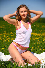 Naked girl posing for us at the field-00
