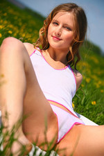 Naked girl posing for us at the field-09