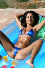 Rita G Blue Bikini In Tanning Tub-00
