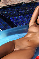 Rita G Blue Bikini In Tanning Tub-10