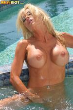 Tylene Buck Tiny Aqua Teardrop Bikini-12
