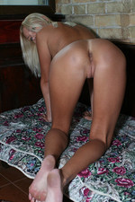 Teen petite blonde babe has shaven pussy and round ass-02