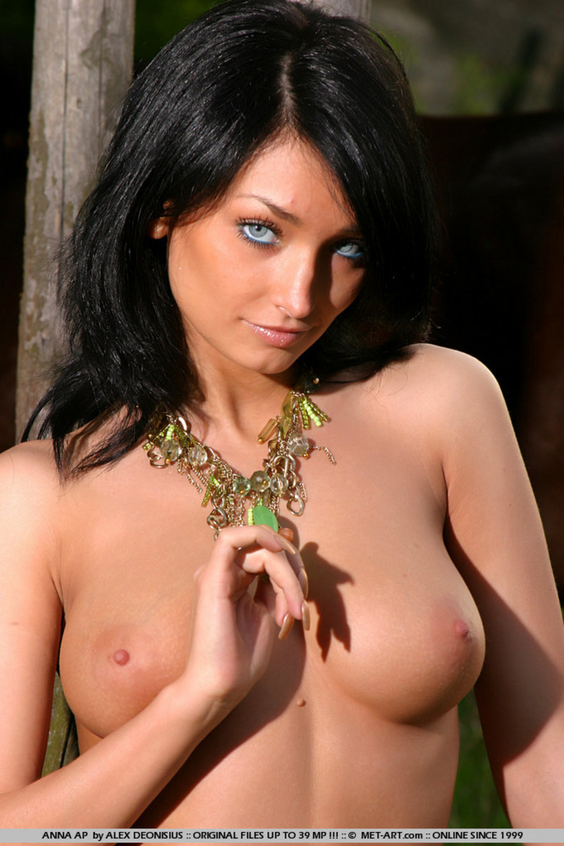 Black hair blue eyes naked
