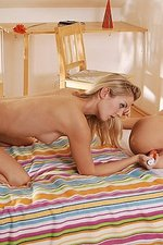 Lesbian luscious teens lick moist pussies-13