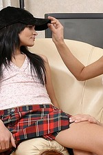 Dark haired lesbian cuties finger pussies-00