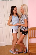 Adorable teens finger tight pussies-00