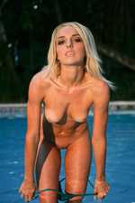 Nakedness by the pool featuring Heather-12