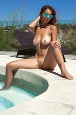 Busty Ali Roseis Nude By The Pool-08