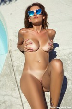 Busty Ali Roseis Nude By The Pool-10