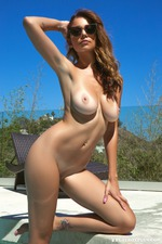 Busty Ali Roseis Nude By The Pool-13