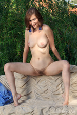 Natural Naked Girl Melody Shows Her Tight Ass Outdoor-05